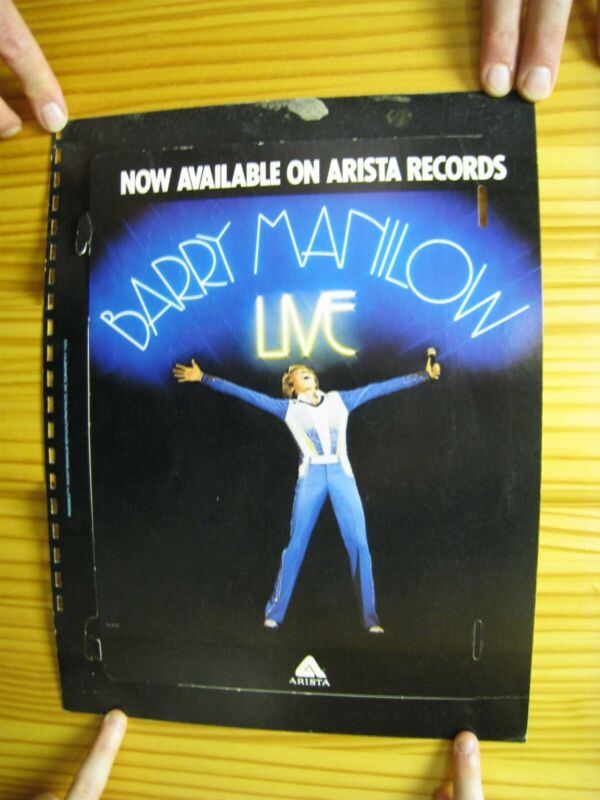 Barry Manilow Poster Live Body Shot Pop Out Vintage