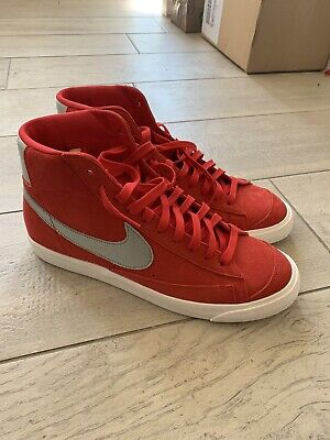 Nike Blazer 77 Mid, University Red/Metallic Silver, UK 10, Brand New/Unworn