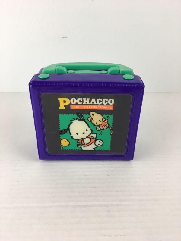 Vintage 1995 Sanrio Pochacco Mini Stationary Trinket Storage Box Case Purple