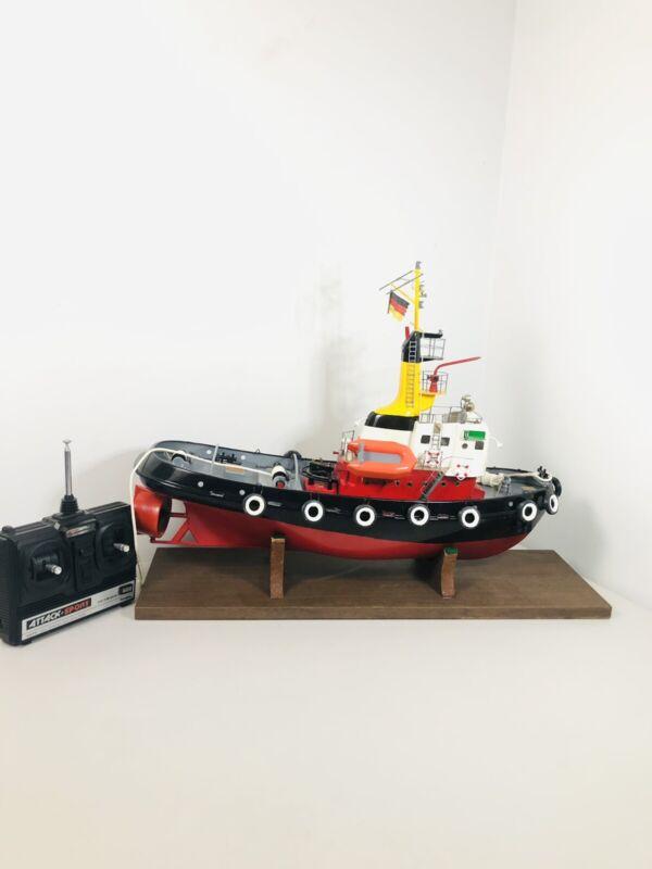 Vintage Robbe Neptun Tugboat static or RC w/ Futaba Temote Control R/C (24x8x17)