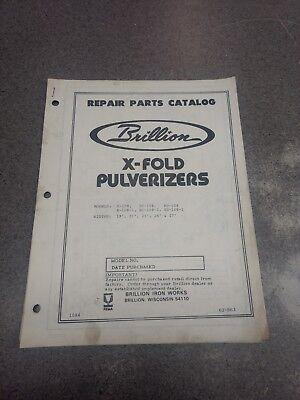 Brillion X-fold Pulverizers Parts Manual 6j863