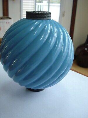 NEW old stock with Box Fenton Cobalt Blue Glass Lightning Rod Ball Globe ANTIQUE