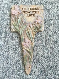 "Ceramic Plaque ""All Things Grow with Love"""