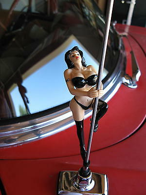 BIG BOOBS Car Motorcycle  Antenna Topper Pole Dancer Doll She Spins as You