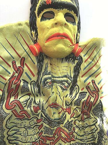 Vtg Ben Cooper Halloween FRANKENSTEIN Costume Large - SUPER RARE!!!