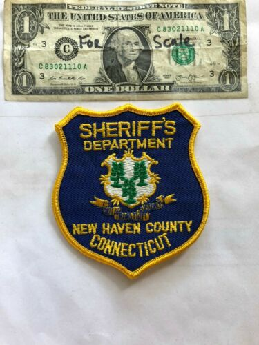 Rarer New Haven Connecticut Police Patch Un-sewn great shape