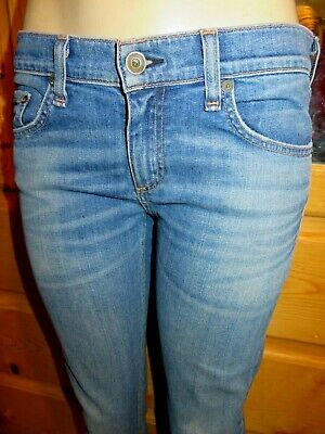 RAG & BONE DRE BOYFRIEND JEAN Relaxed Skinny CORNISH Blue Jeans-27 fits 28 6