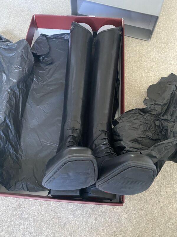 Parlanti Miami Field Boots. Black. Never ridden in, new in box.