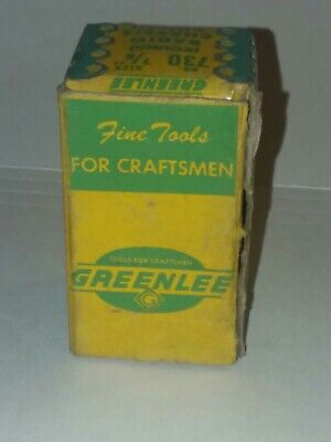 Tj-027 Greenlee Radio Chassis Punch 730 78 Round Vintage In Box With Insert