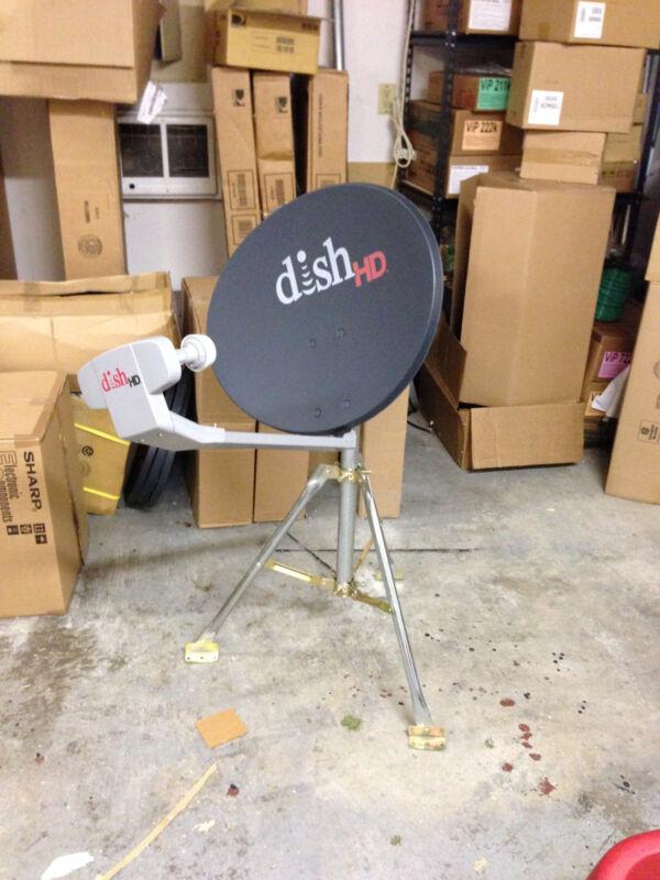 Dish Network 1000.2 TURBO satellite dish RV Tripod Portable Tailgater camping