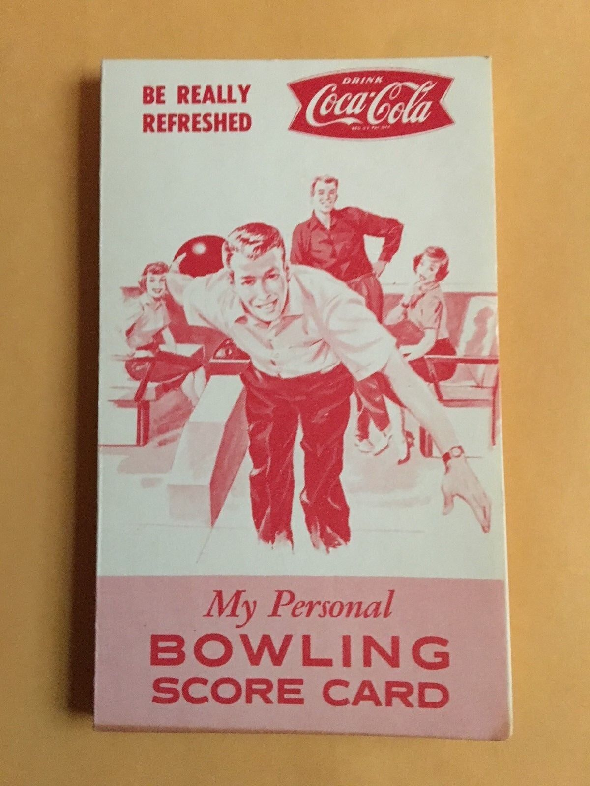 1960's Coca Cola Bowling Score Card With Fishtail Logo