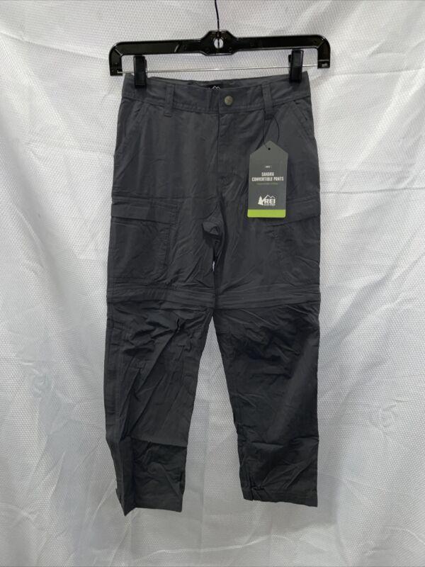 REI Sahara Convertible Pants - Asphalt - Boys Small (8)