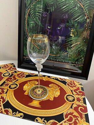$350 VERSACE MEDUSA WINE GOLD GLASS ROSENTHAL  BEST PRICE CHRISTMAS