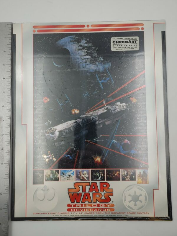 """""""Star Wars Trilogy"""" Factory Sealed Complete Set of (8) Chromart Lobby Cards_1994"""