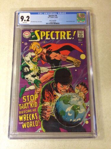 SPECTRE #4 CGC 9.2 NM-, NEAL ADAMS, STUNNING COVER, 1968, WRECKS THE WORLD