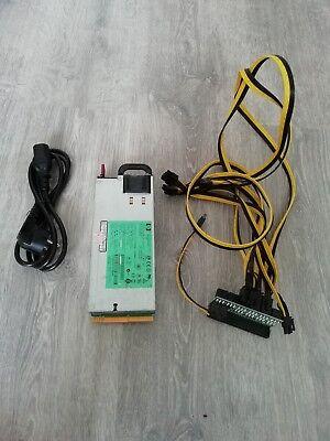 HP 1200 Watt MINING PSU Netzteil, BTC ETH ZEC ETC S7 S9 L3 A6 A7 L3+ D3