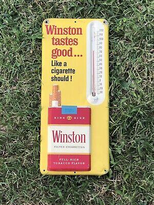 Vintage Advertising Thermometer Winston Cigarettes Tastes Good Sign Full Flavor