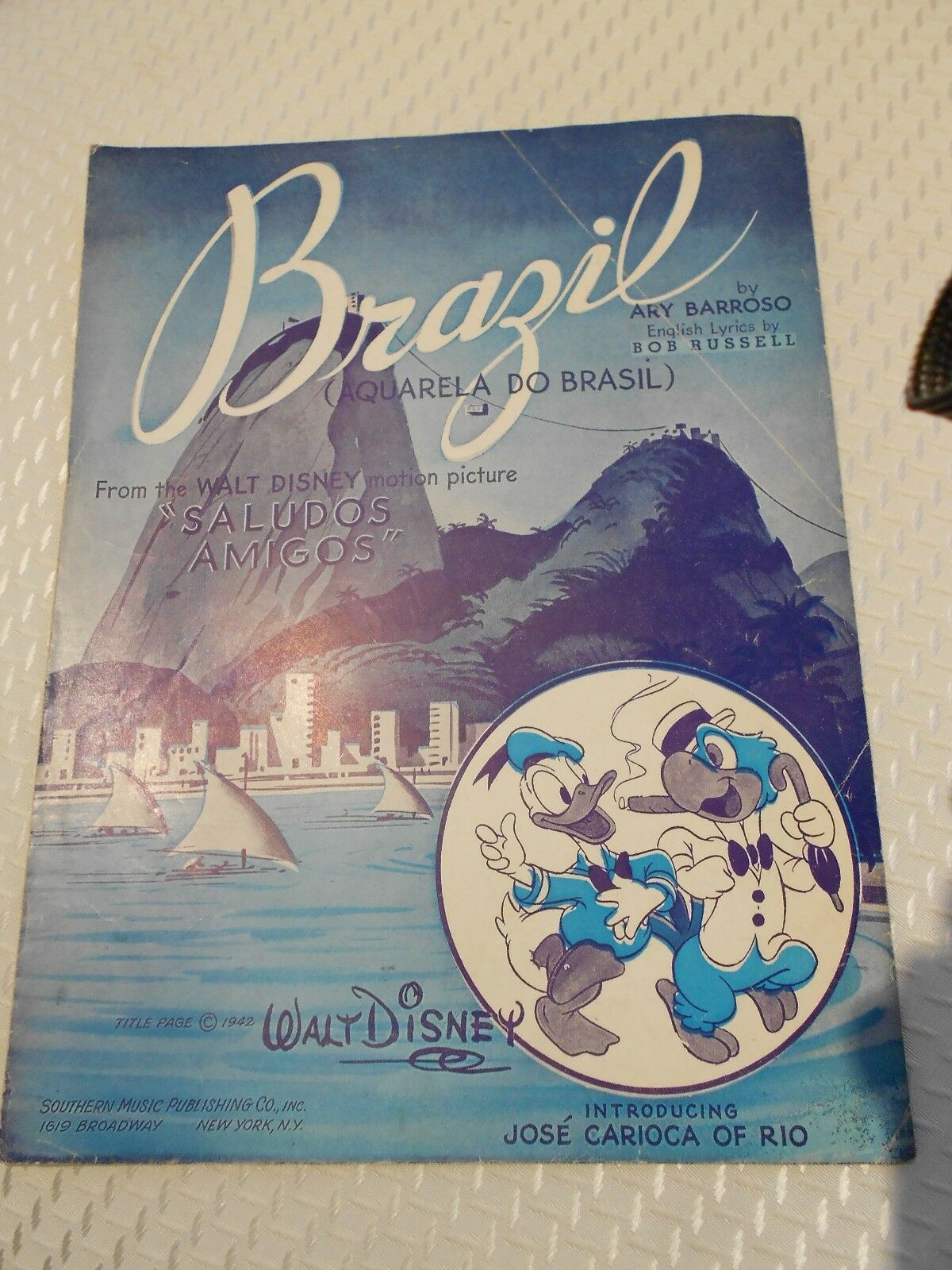 Brazil From Disney s Saludos Amigos Southern Music - $3.99