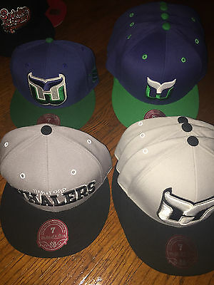 New Adult Mitchell & Ness NHL Hartford Whalers Fitted Hats 4 Types Many Sizes