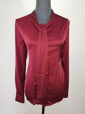 Rotes Damen T-shirt Neue Band (Neue Sweewe Paris Damen Samt Bluse Gr M Vorne mit Zierband Langarm Rot NEU/OVP)