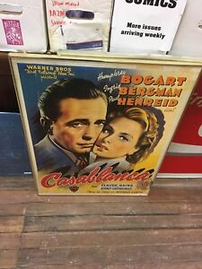 Reproduction Casablanca movie poster(French version)