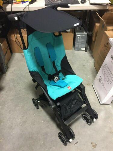 Goodbaby GB Pockit 2019 Compact Folding Traveling Baby Stroller, Capri Blue