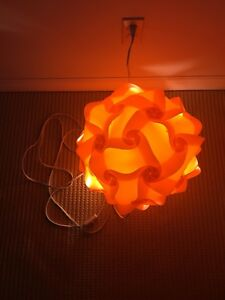 Orange patio light