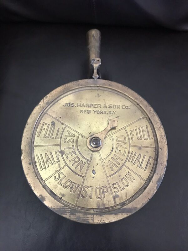 ANTIQUE JOS. HARPER & SON CO, NEW YORK  SHIP TELEGRAPH DUMMY NO FUNCTION DISPLAY