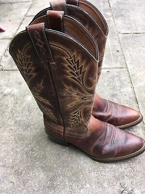 Mens Brown Justin Cowboy Boots Size 7.5EE SV2566