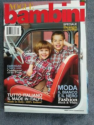 VOGUE BAMBINI JULY/ AUGUST 2011,CHILDREN KID'S FASHION ITALIAN MAGAZINE](Kids Fashion Magazines)