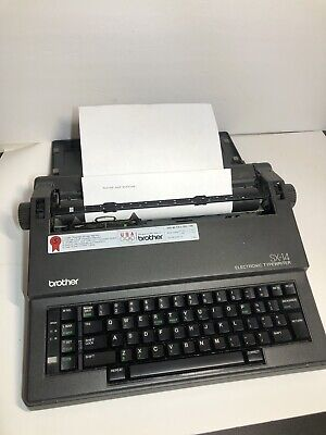 Brother Portable Electronic Typewriter Sx-14 Tested With Working Ribbon