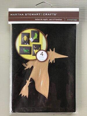 Martha Stewart Crafts Halloween Treat Bags Witch Spider Crow Cat Black