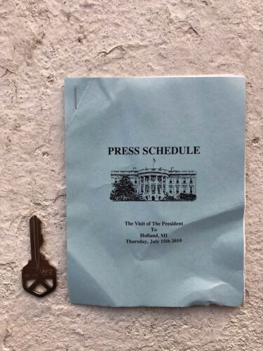 Official White House Press Corps Schedule  - President Barack Obama - Michigan