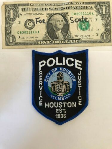 Rarer Houston Mississippi Police Patch Un-sewn great condition