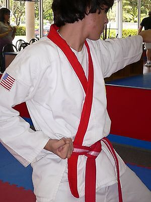 Karate Uniform RED TRIM KIT Tang Soo Do Tae Kwon Do