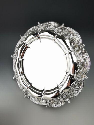 """TIFFANY & CO - CHRYSANTHEMUM """"Art Nouveau"""" Sterling Silver Tazze (Grosjean)"""