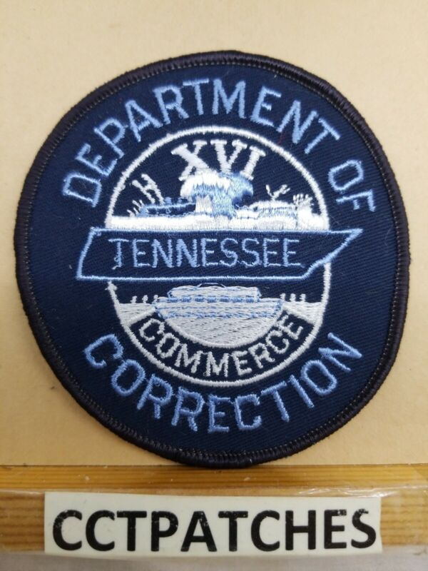 DEPARTMENT OF CORRECTION TENNESSEE BLUE (POLICE) SHOULDER PATCH TN