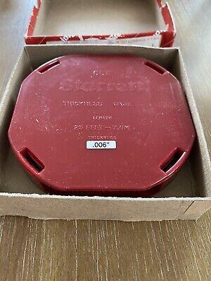 Starrett 666m-6 Thickness Gauge Feeler Stock 0.06mm 25 Ft New