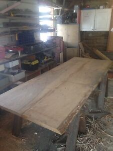 Live edge harvest table.