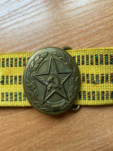 Original Soviet Russian Military Parade Officers Belt Uniform USSR