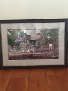 Cottage Picture Under Glass