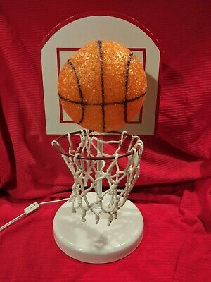 """Basketball Sports Theme Children's Bedroom Accent 18"""" Table Lamp"""
