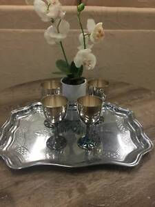 Pewter goblets and tray Stafford Brisbane North West Preview