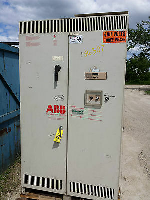 350 Hp Abb Flowstar Ac Variable Frequency Drive 460v 3 Ph 0-120 Hz 440 Amps