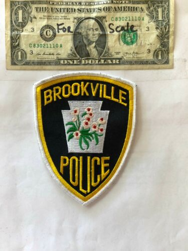 Brookville Pennsylvania Police Patch un-sewn mint shape