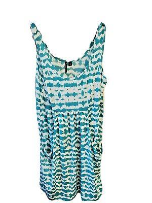 PortoCruz Women's Size M Green Teal Swim Suit Cover Up Summer Dress Beachy