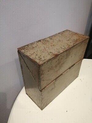 Vintage Industrial Metal  storage document holders