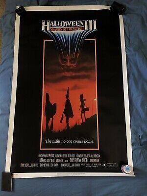 Origin Of The Halloween Mask (HALLOWEEN 3 III *1982 ORIGINAL MOVIE POSTER SEASON OF THE WITCH MASK)