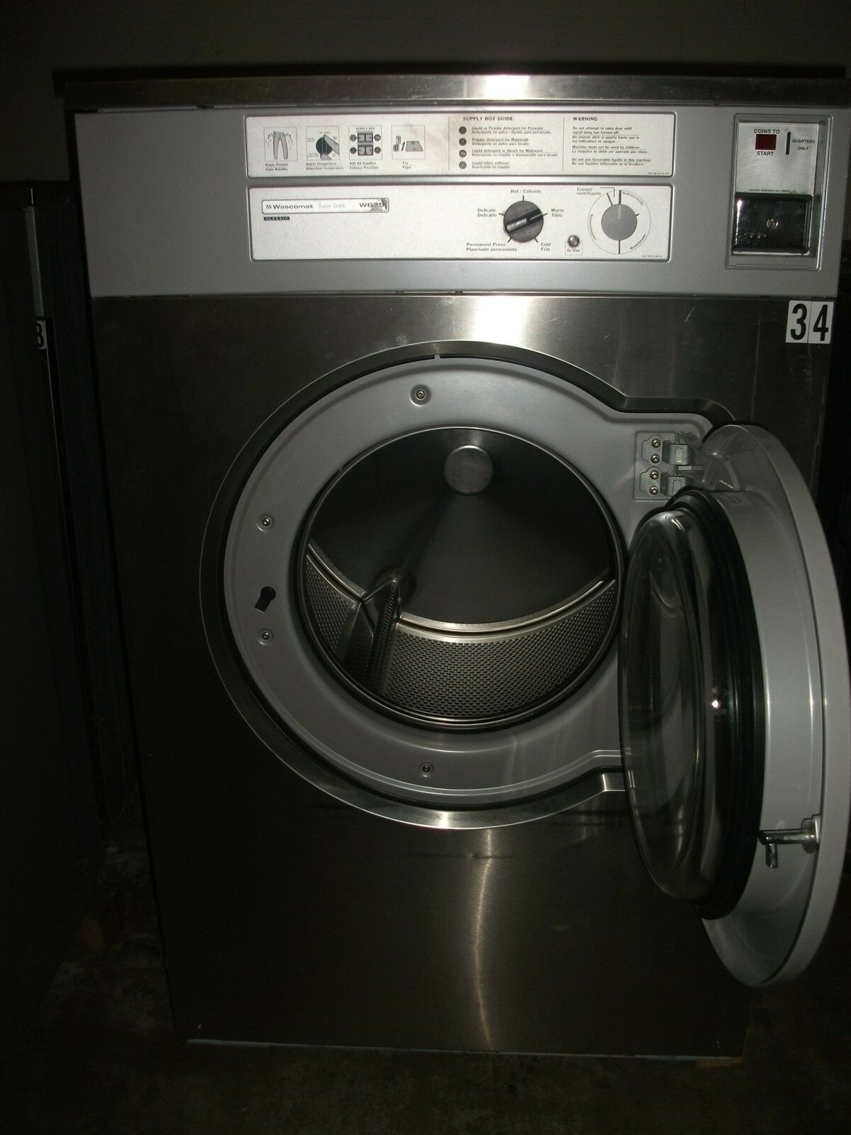 Coin Washer And Dryer >> Wascomat W675 75 LB Washer/Extractor 3ph Used | eBay