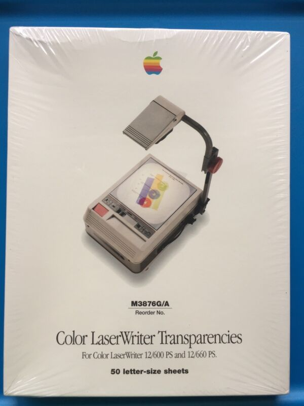 Apple Color LaserWriter Projector Transparencies New Vtg 90s Geek Sealed Supply